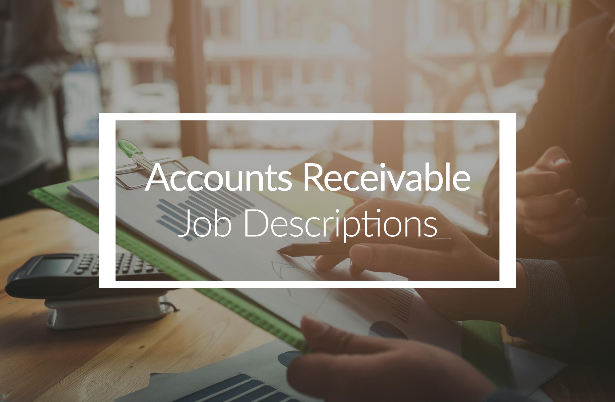 Accounts Receivable Job Descriptions